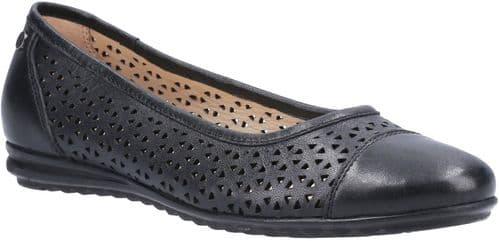Hush Puppies Leah Slip On Ladies Shoes Black